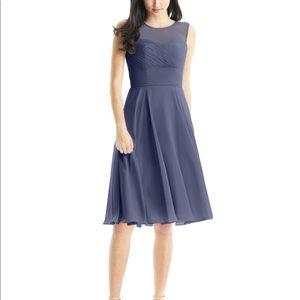 Azazie Scarlett style dress in Stormy size 10